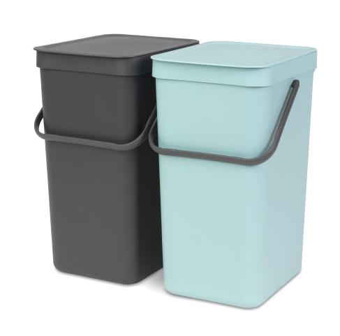 Brabantia - søppelbøtter med lokk 2 stk