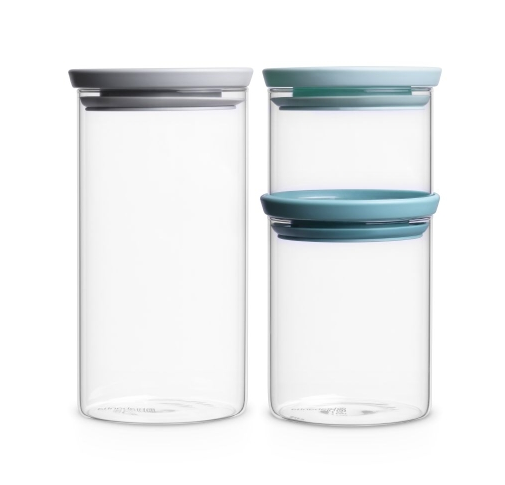 Brabantia - tre glasskrukker med lokk