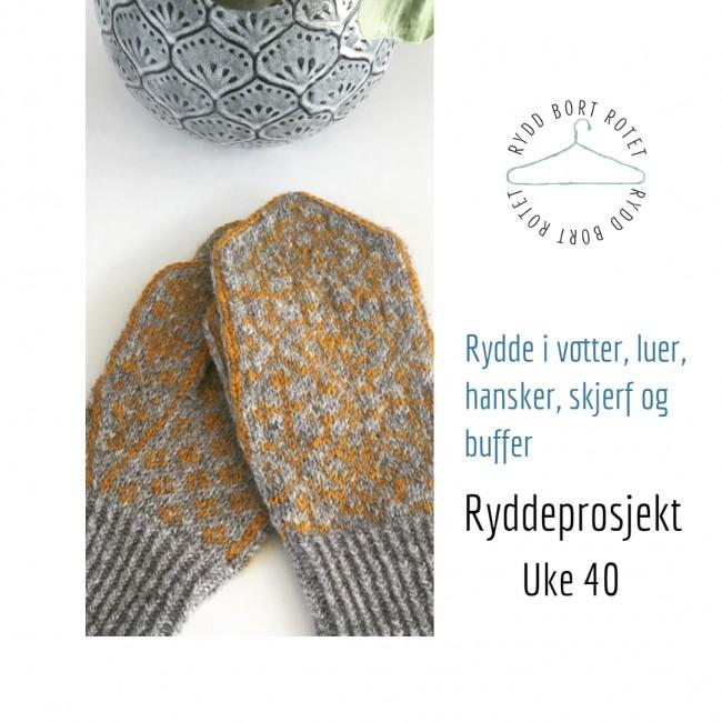 Rydde hansker, luer og skjerf - Ryddeprosjekt Uke 40