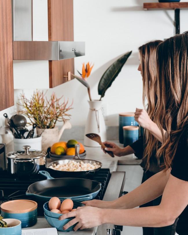 La kjøkkenvasken skinne