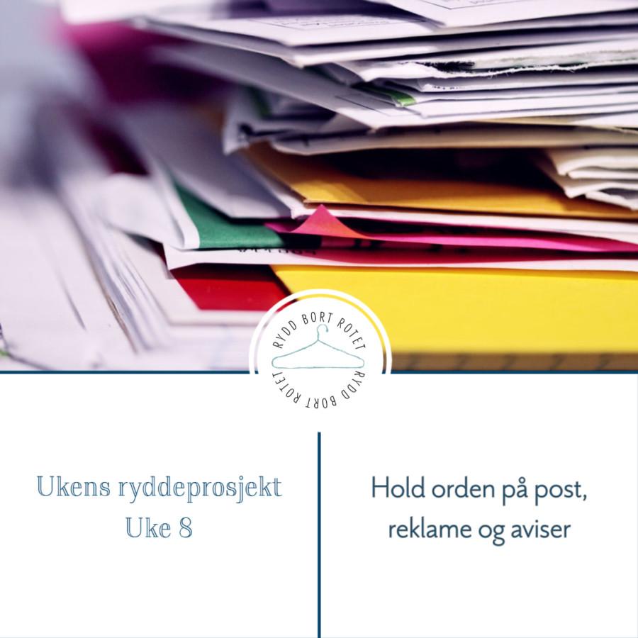 Hold orden på post, reklame og aviser