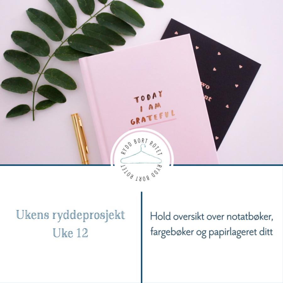 Organiser fargebøker, papir og notatbøkene dine - Ukens ryddeprosjekt