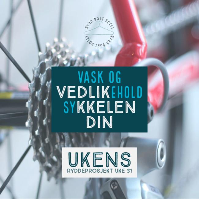 Vask og vedlikehold sykkelen i ukens ryddeprosjekt