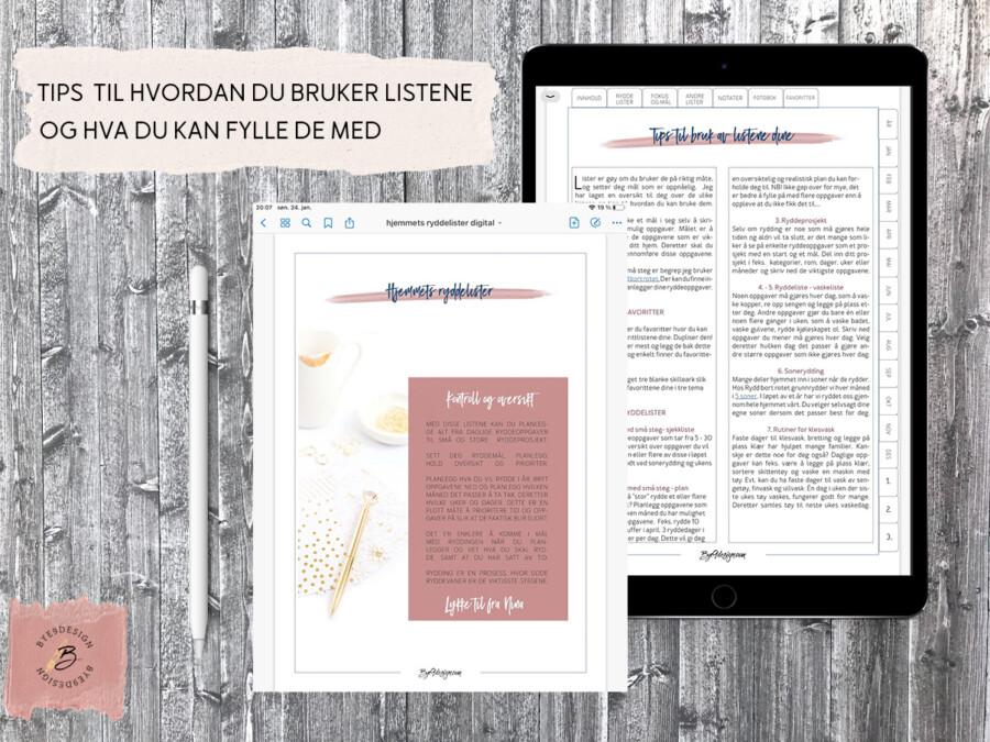 Digital planlegger fra Bye9design